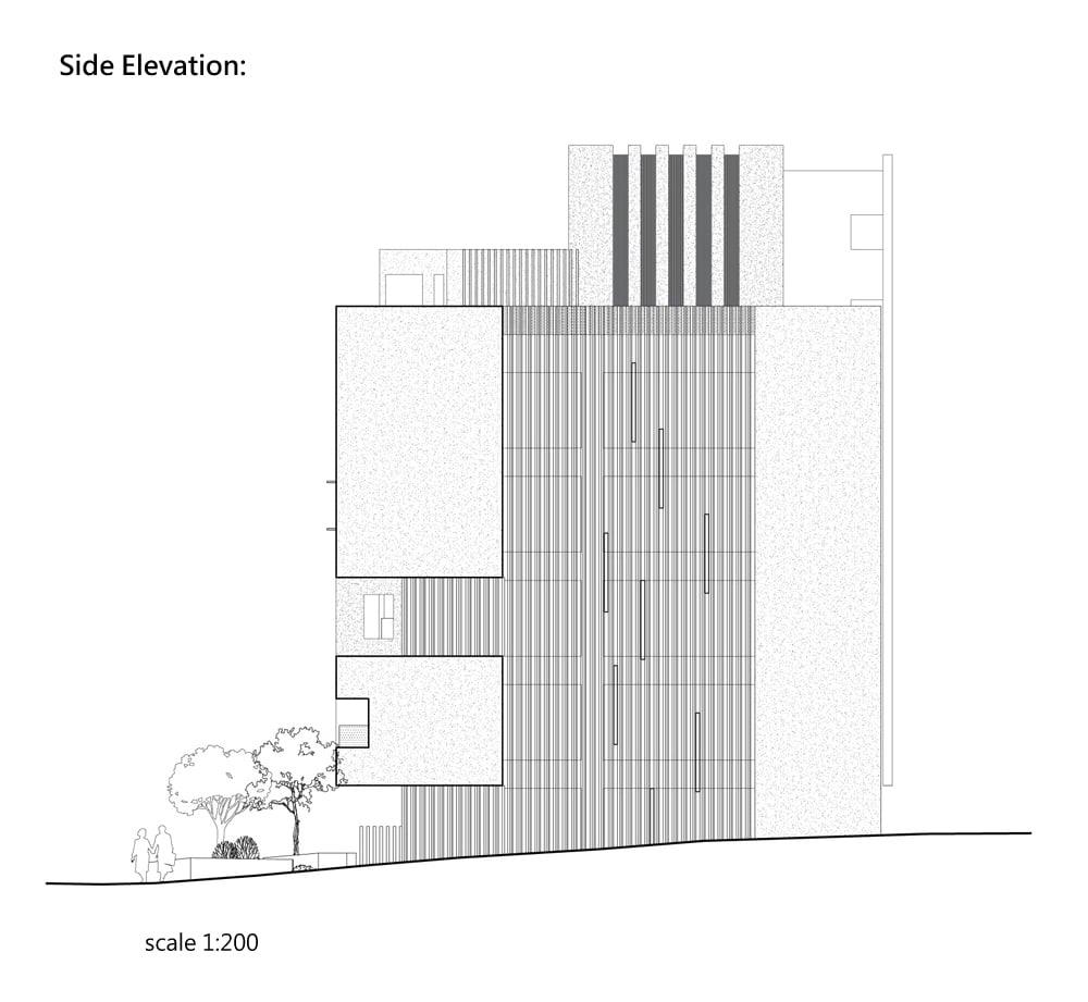 Side Elevation }