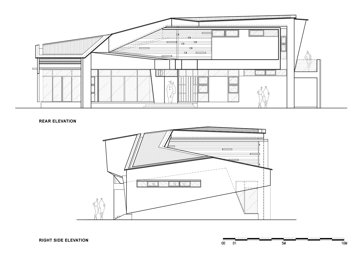 Rear Elevation and Right-Side Elevation Zubu Design Associates}