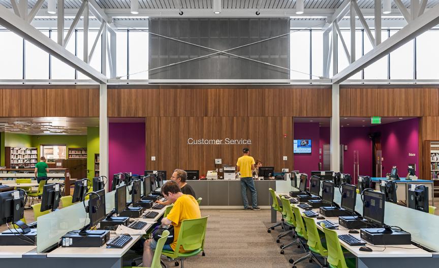 Information Desk/Technology Area