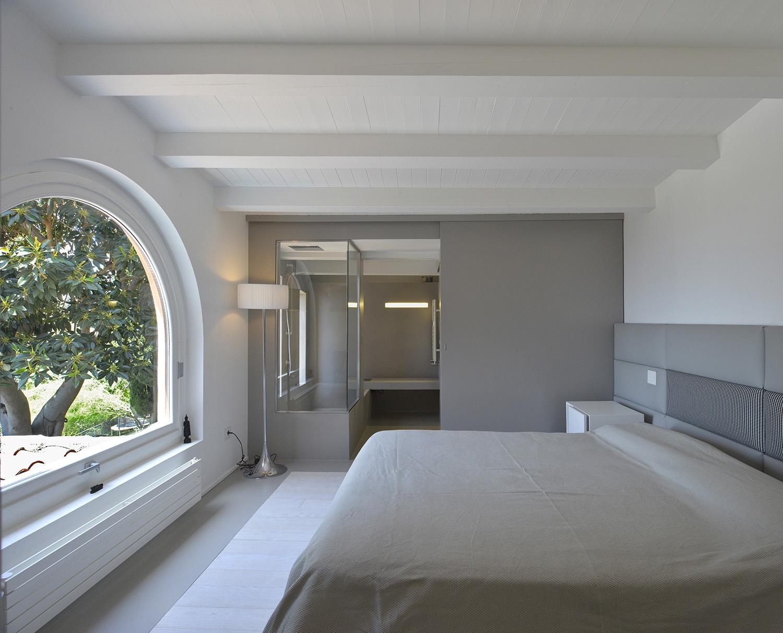 Camera da letto su parte esistente