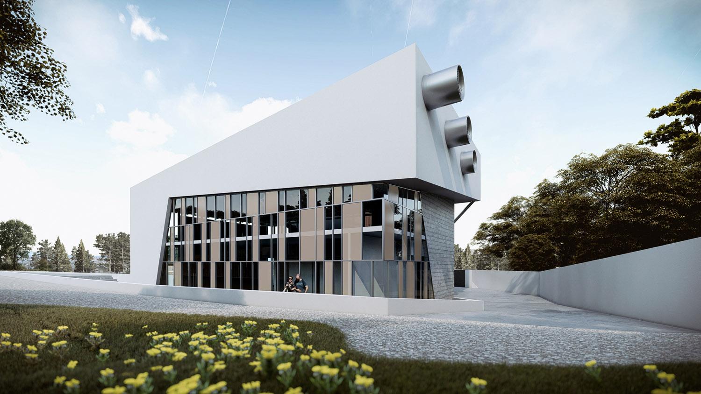 Corpo A - vista esterna Giuseppe Todaro Architect