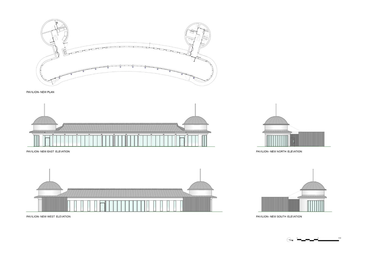 New Pavilion Drawings }