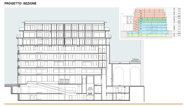 14 -  progetto architettonico - sezione tipo  studio B+M Associati}