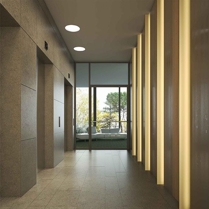 Rendering sbarco ascensori COIMA Image}