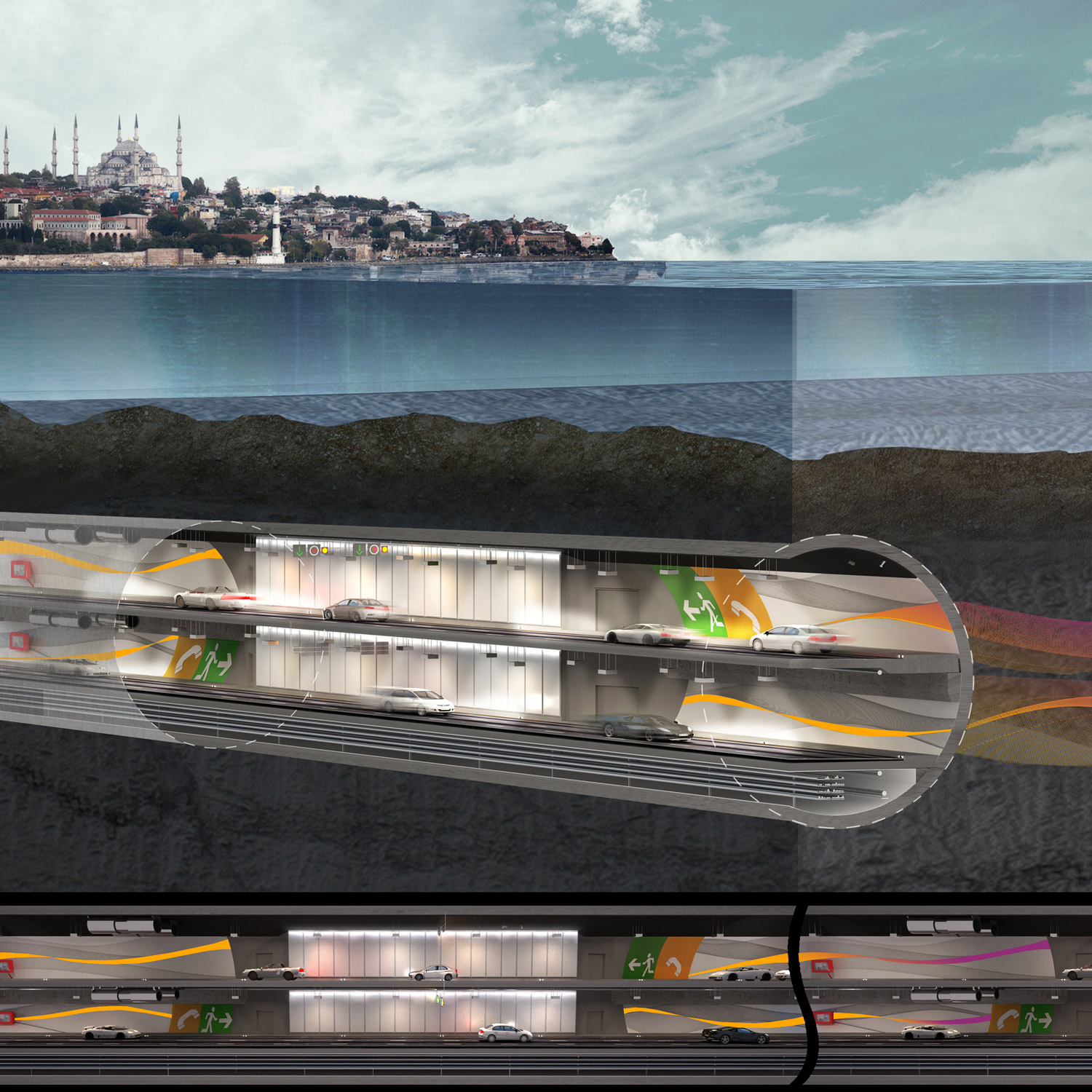 Eurasia Tunnel Operation and Maintenance Building }