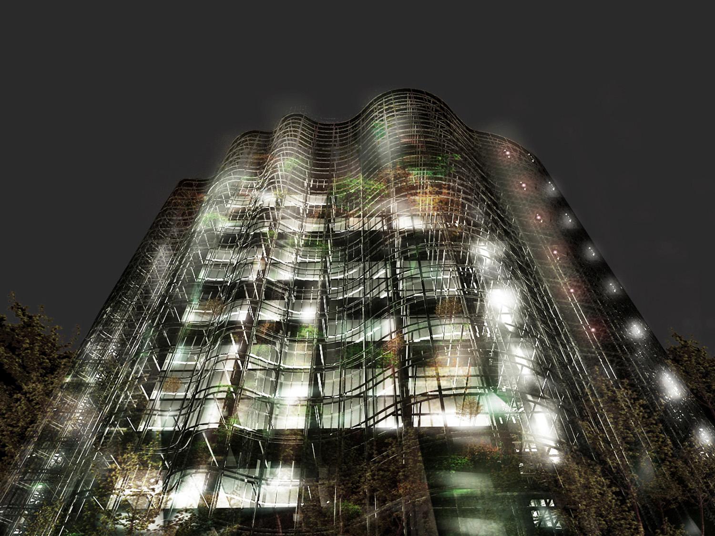 Maslak No.1 Tower - Render }