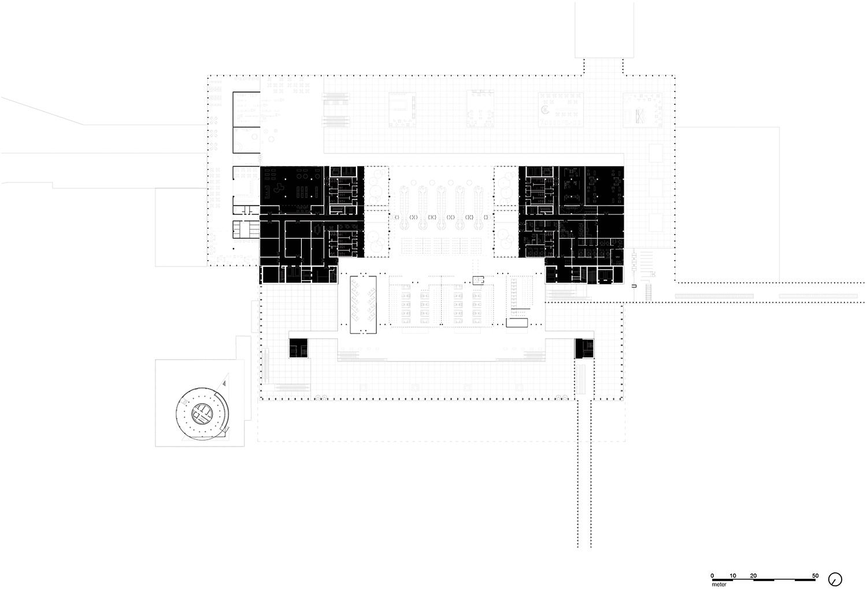 Plan 2nd floor (Plateau) KAAN Architecten}