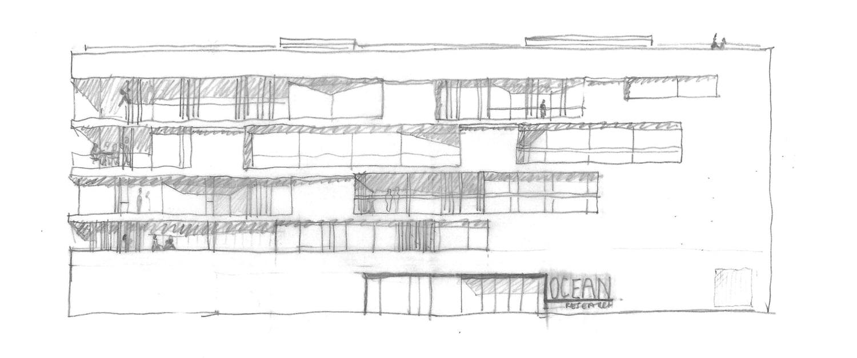 Elevation sketch }