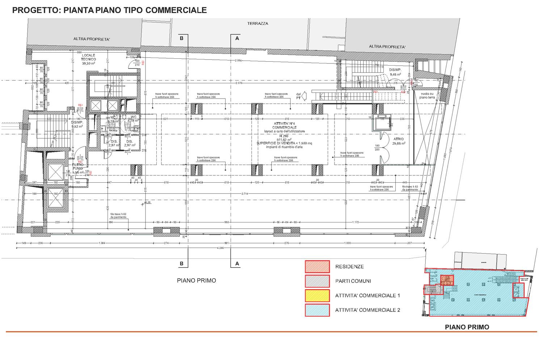 16 - progetto architettonico - piano tipo commerciale studio B+M Associati}