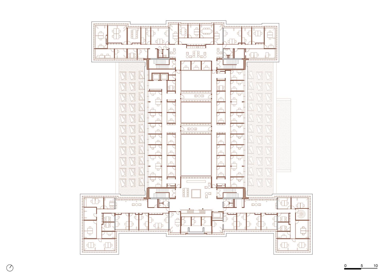 Plan 4th floor KAAN Architecten}