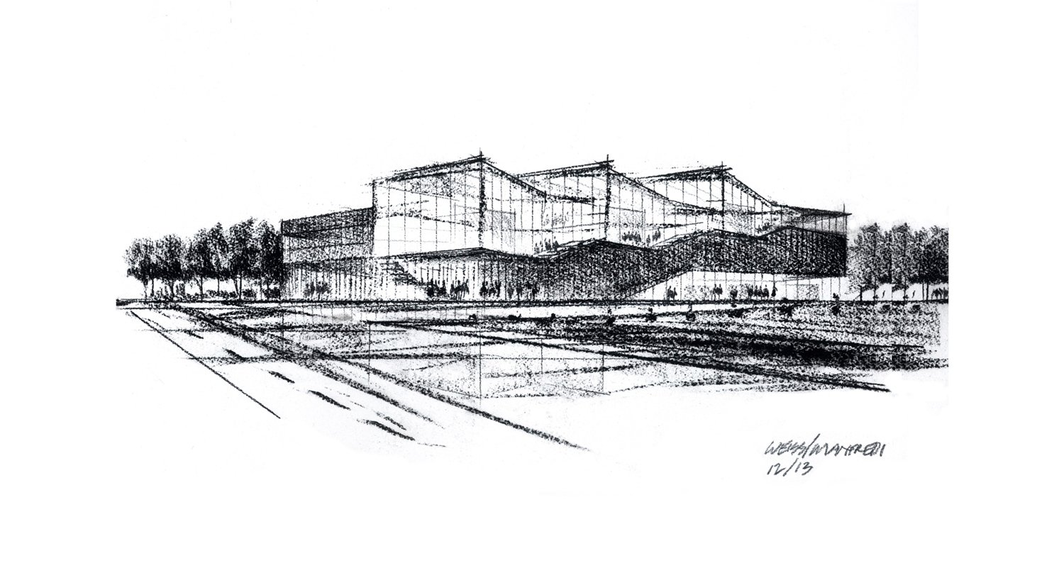 Kent State Center for Architecture and Environmental Design drawing Weiss/Manfredi}