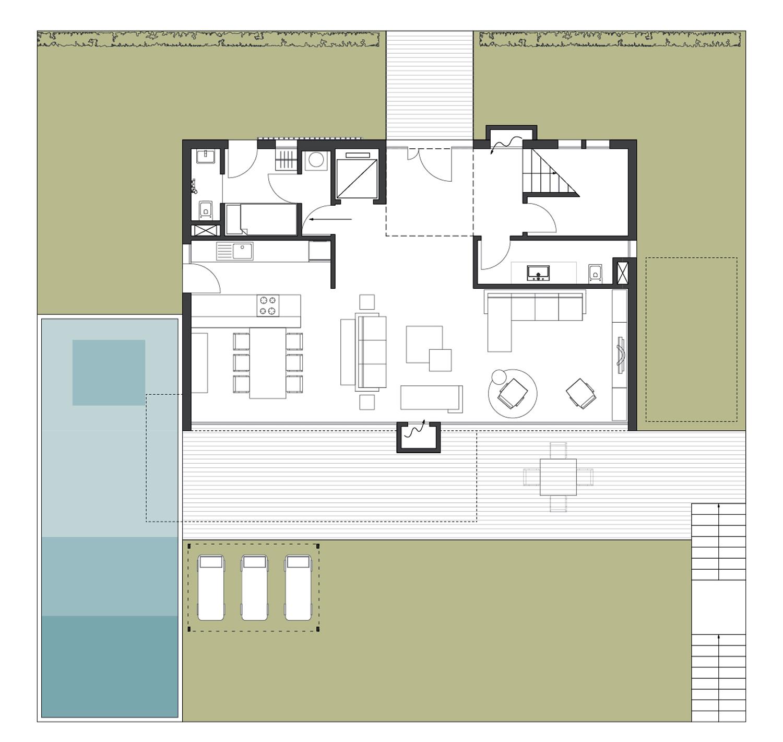 The Villa V1 plan }