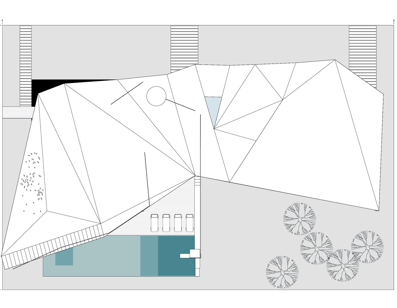 The Villa V4 roof plan }