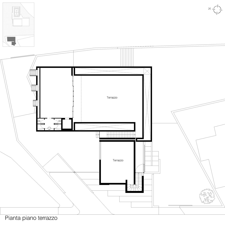 Corpo A - Pianta piano terrazzo Giuseppe Todaro Architect}