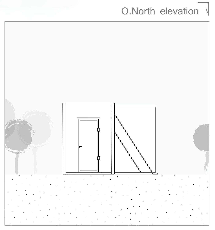 North elevation open 3ndy Studio}