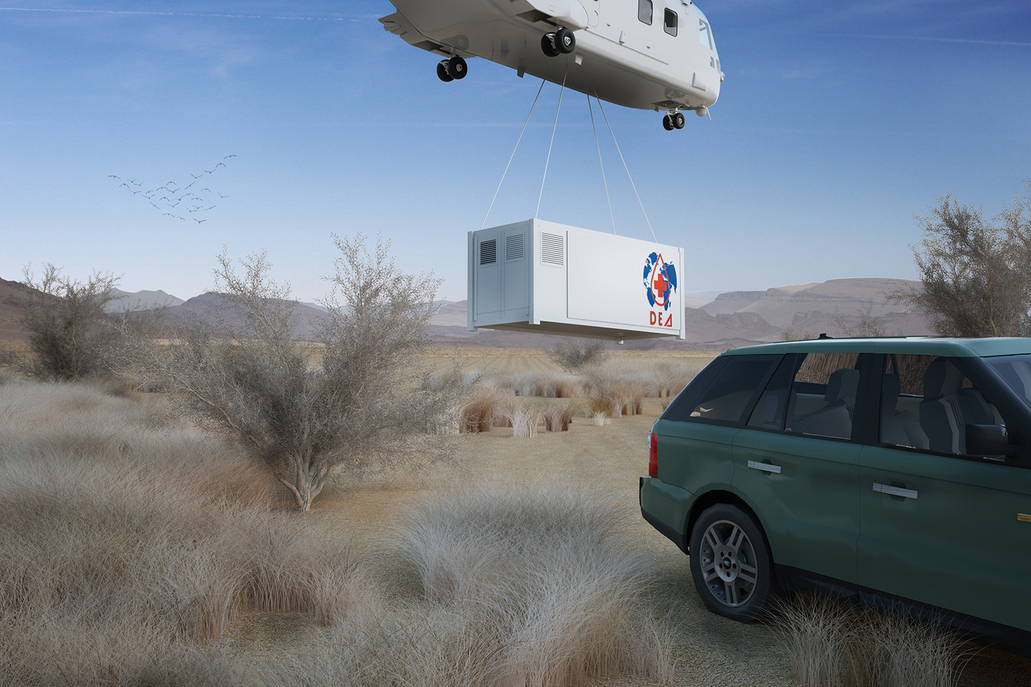 Delivery everywhere by helicopter Andrea Sparzani architetto