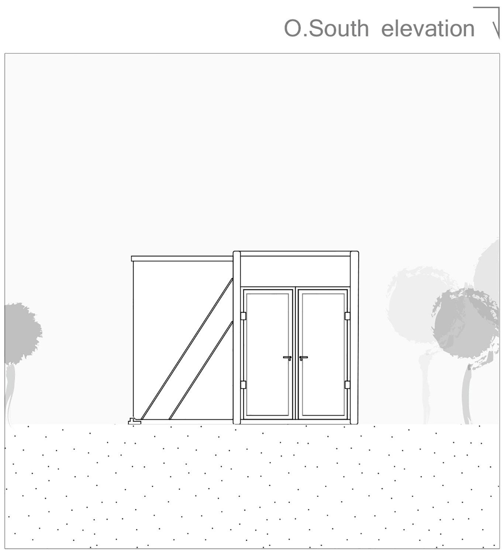 South elevation open 3ndy Studio}