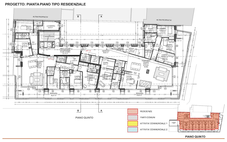 17 - progetto architettonico - piano tipo residenziale studio B+M Associati}