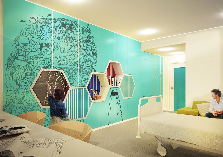 Rendering - Patient Room Binini Partners}