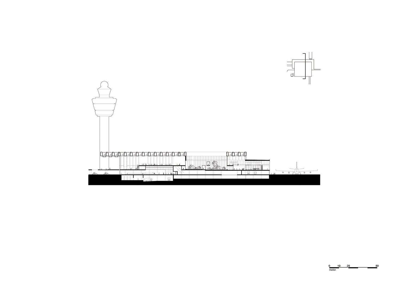 Cross section through patio KAAN Architecten}