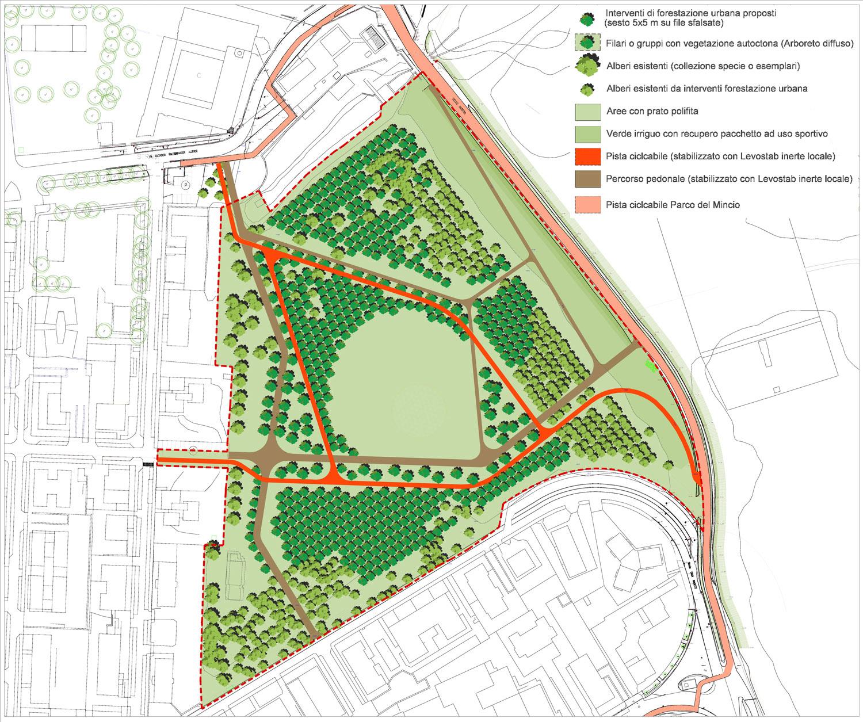 Area Valletta Valsecchi: Planimetria Generale di progetto Archivio Corvino + Multari 2017}