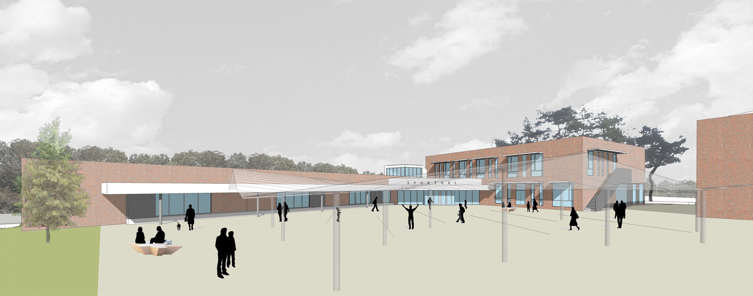 View of Sports and Technology block  Coady Architects / ELD Partnership}