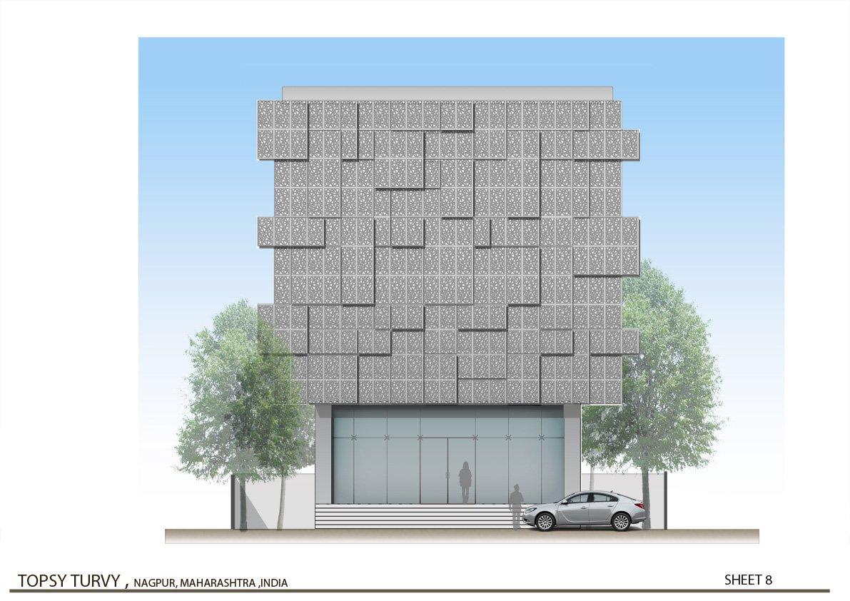 Front Elevation  Zeel Architects }