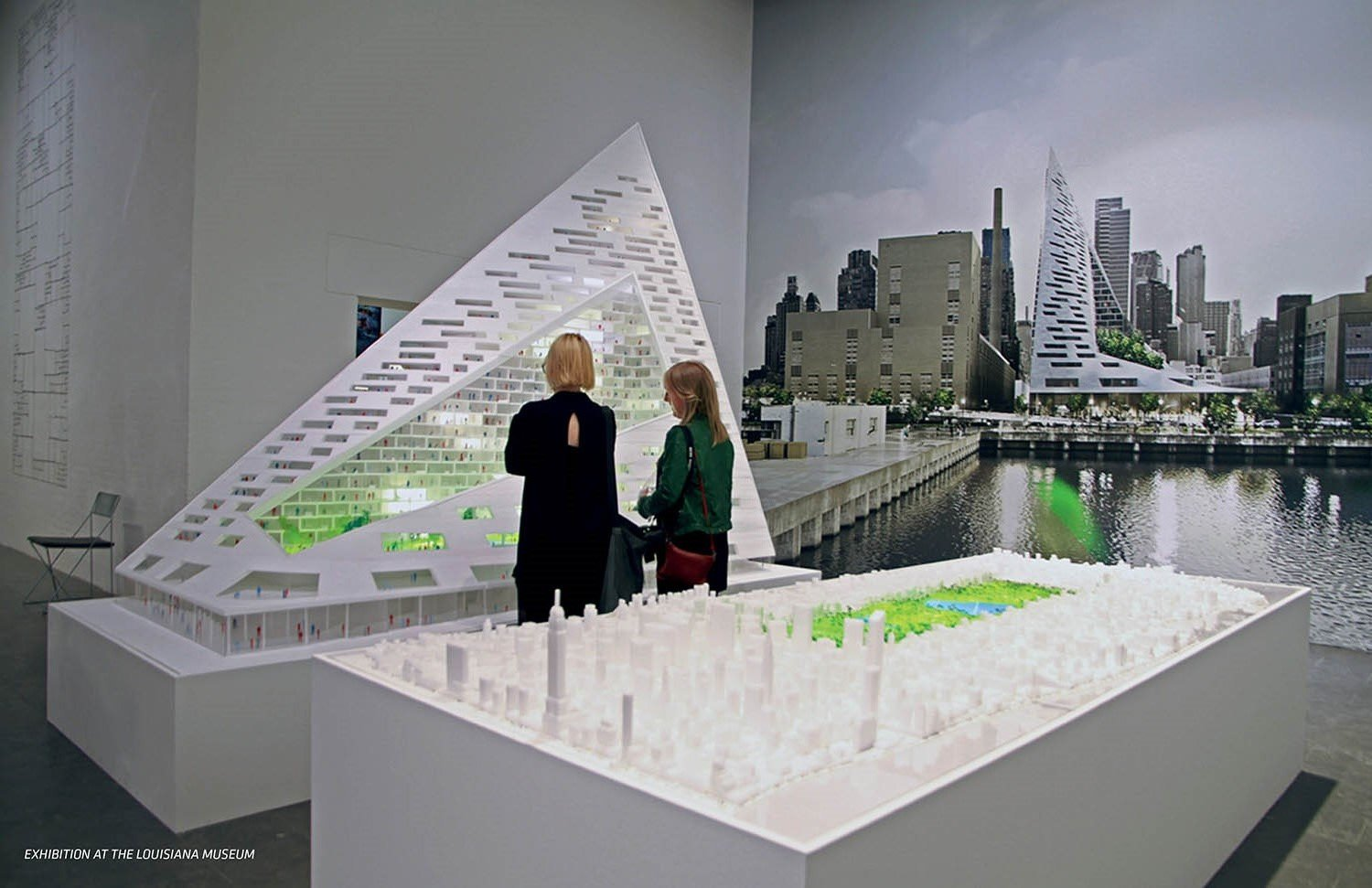 VIA and Central Park models at an exhibition at the Louisiana Museum }