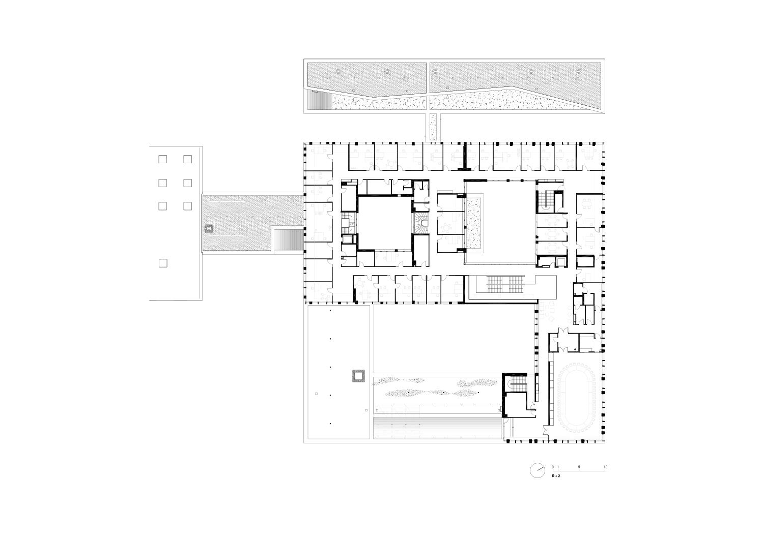 plan étage 2 Richter architectes et associés}