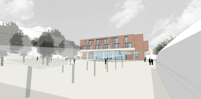 View of Teaching block Coady Architects / ELD Partnership}