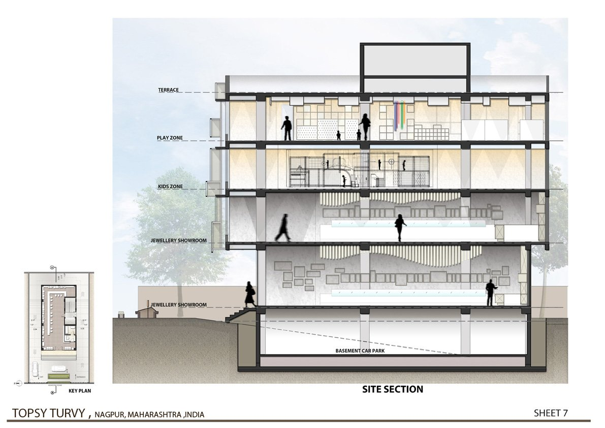 Sectional Elevation  Zeel Architects }