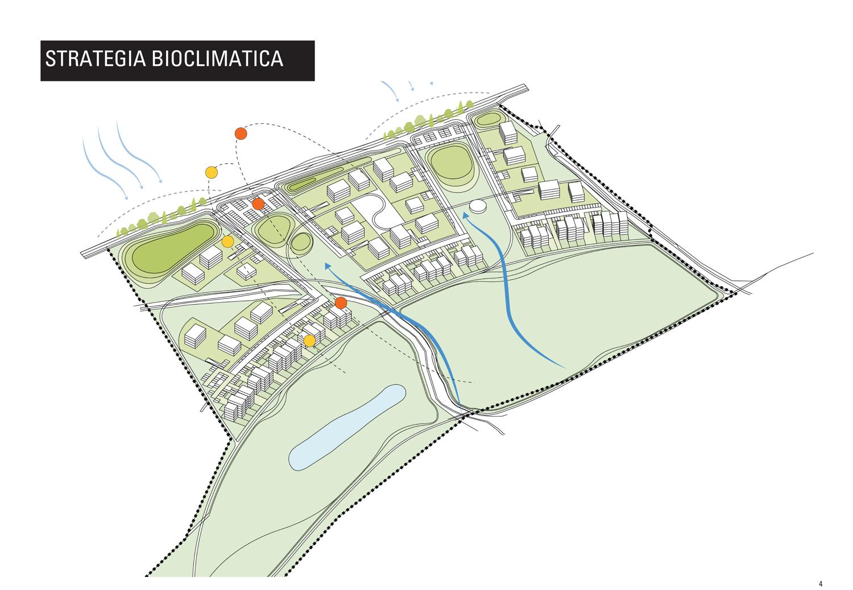 Schema assonometrico strategia bioclimatica MCA}