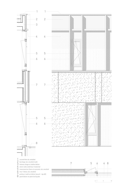 détail de façade Richter architectes et associés}