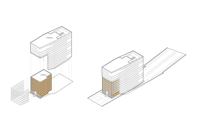 Building Extension Diagram INOA}