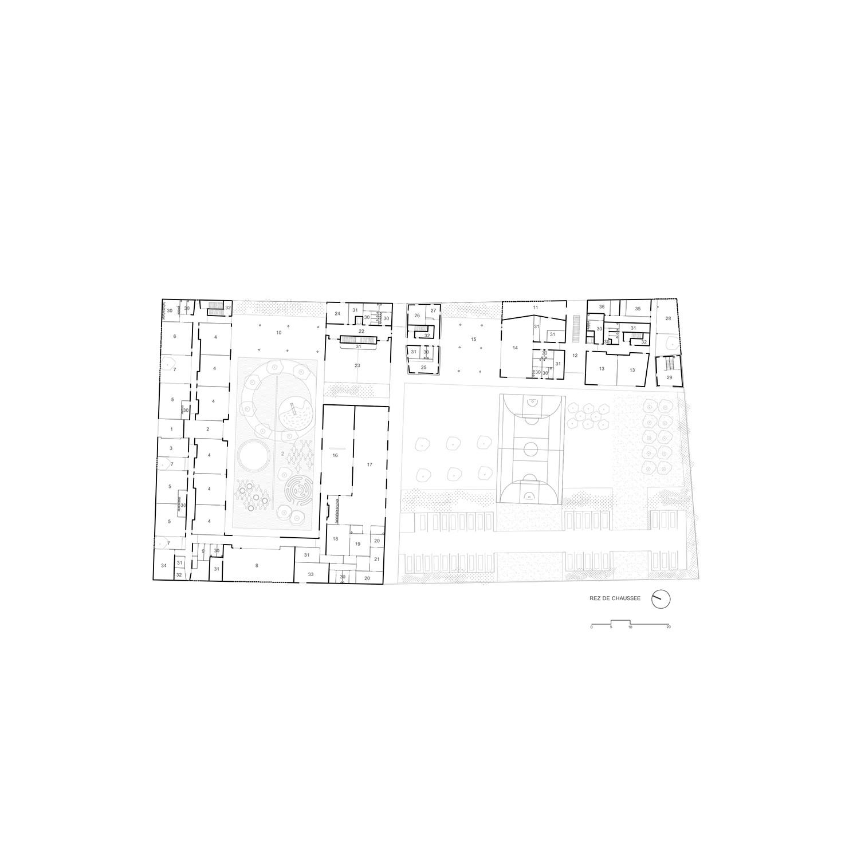 Ground floor Plan  © AAVP ARCHITECTURE}