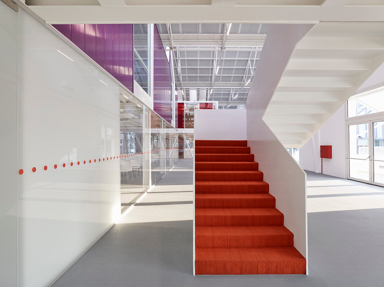 The tale of the stair that connects common areas to the classrooms