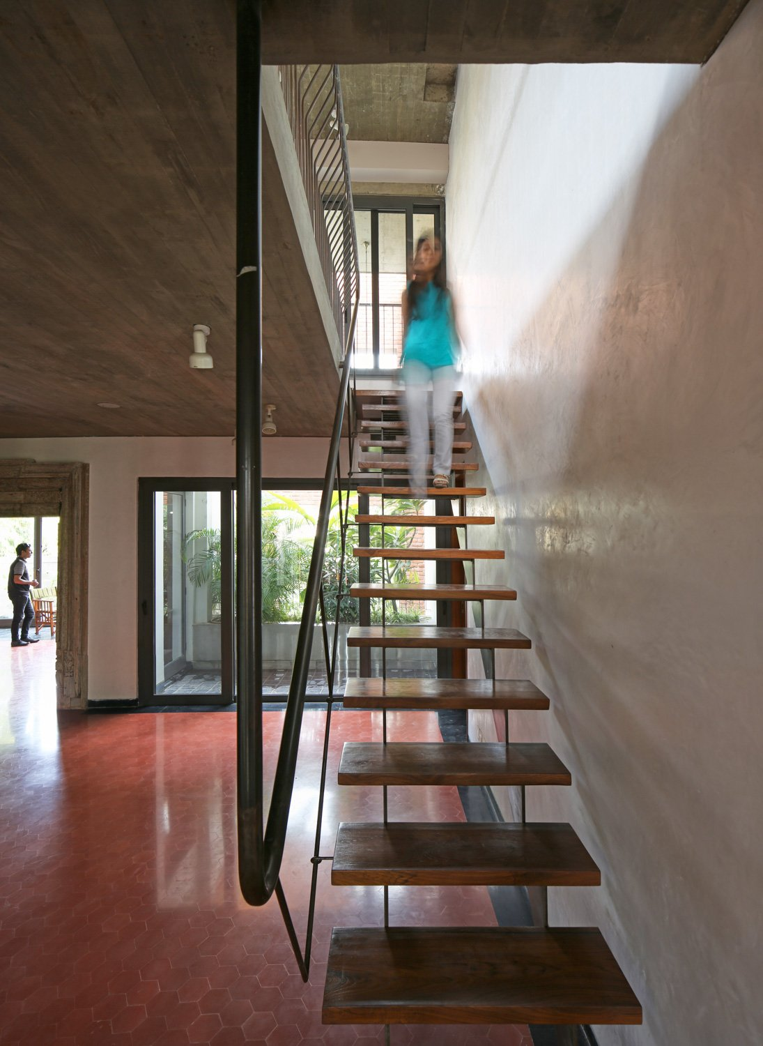 The materiality highlights the spatial expression of the House Edmund Sumner}