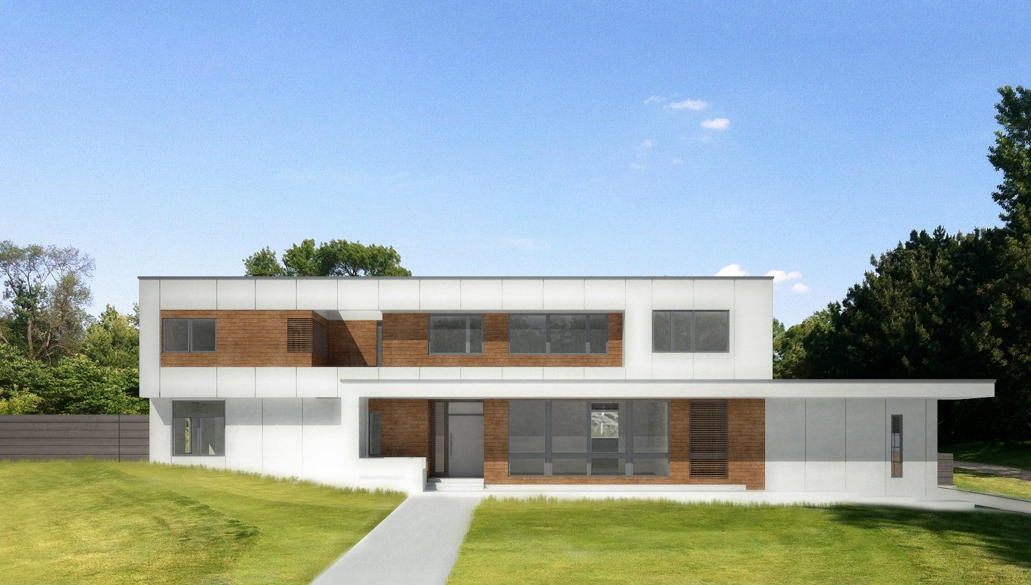Front Elevation Rendering SPG Architects}