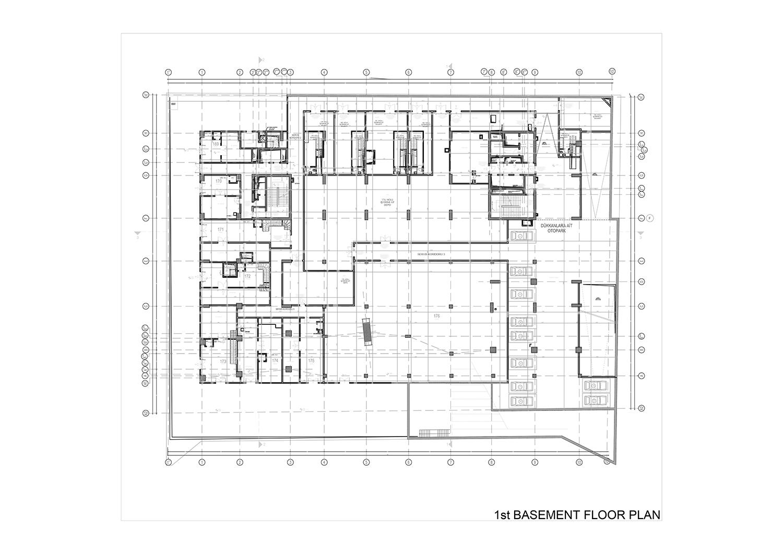 1st BASEMENT FLOOR PLAN Studio Vertebra}