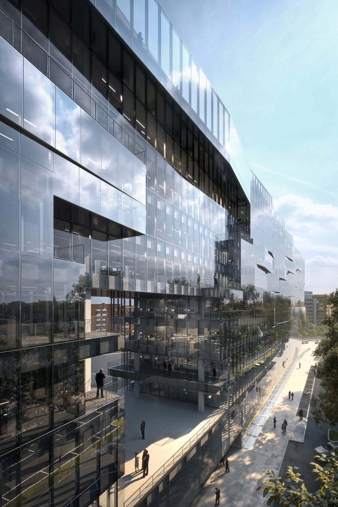 Render of the Project - West View detail }