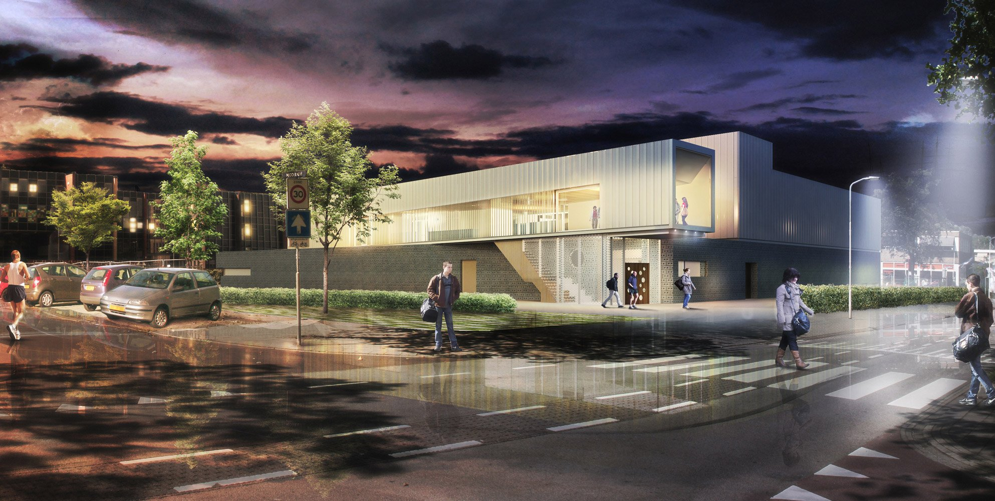 Rendering by night design phase }