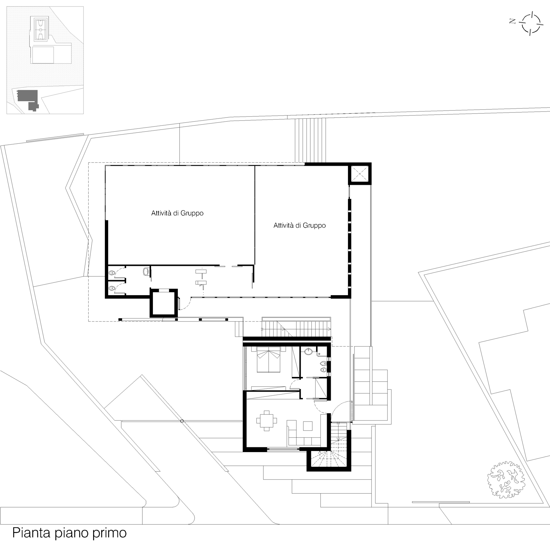 Corpo A - Pianta piano primo Giuseppe Todaro Architect}