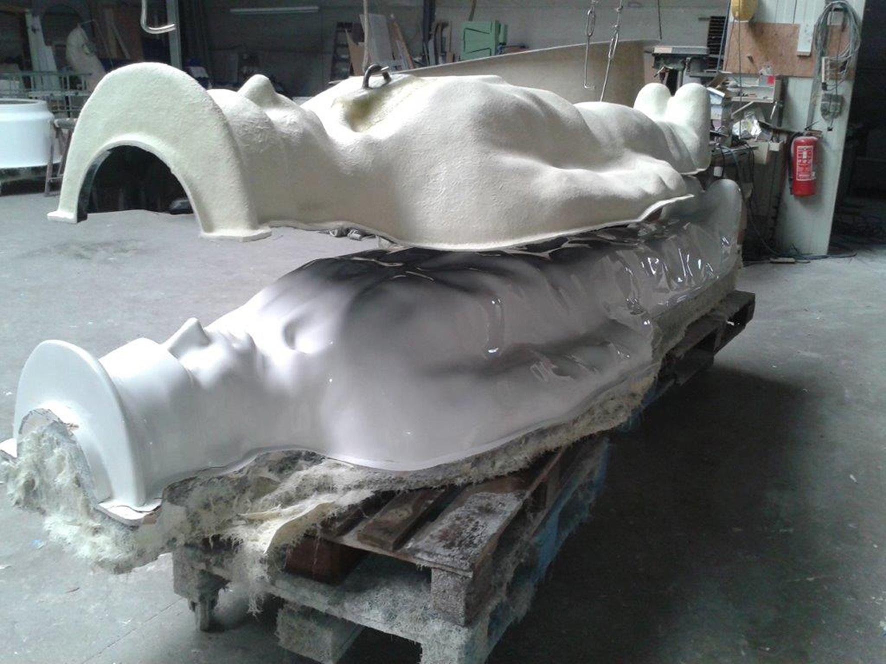 Digitally Fabricated Polyester Atlantes Statue (1/2) ORG Permanent Modernity}