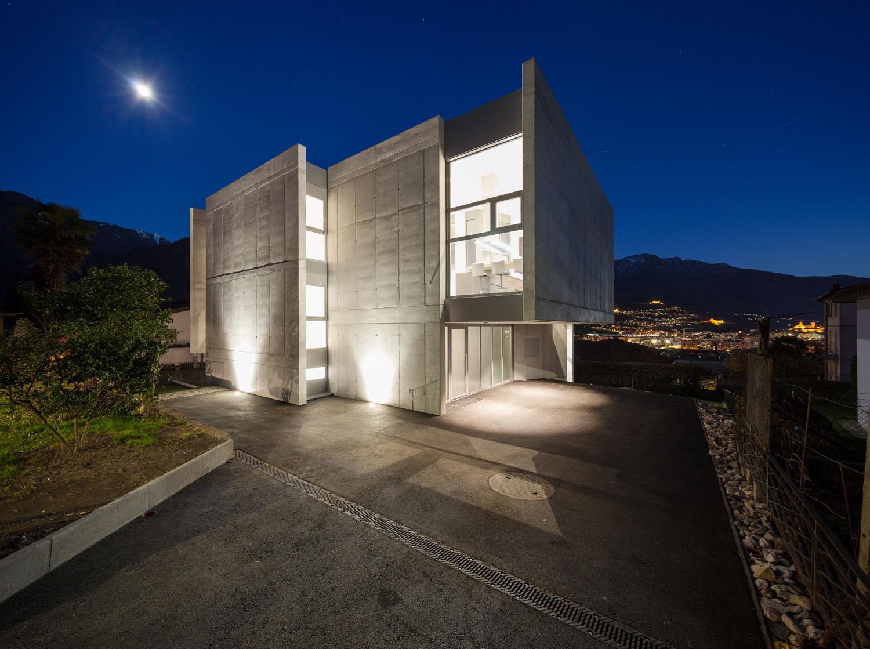 Vista notturna Alexandre Zveiger, Lugano CH