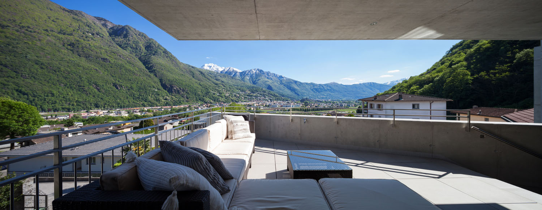 Panorama dalla terrazza Alexandre Zveiger, Lugano CH
