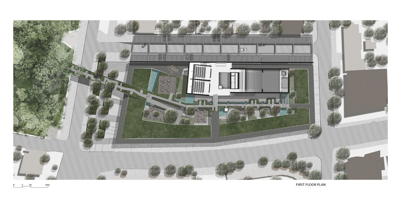 BerKM Bergama Cultural Center - First Floor Plan }
