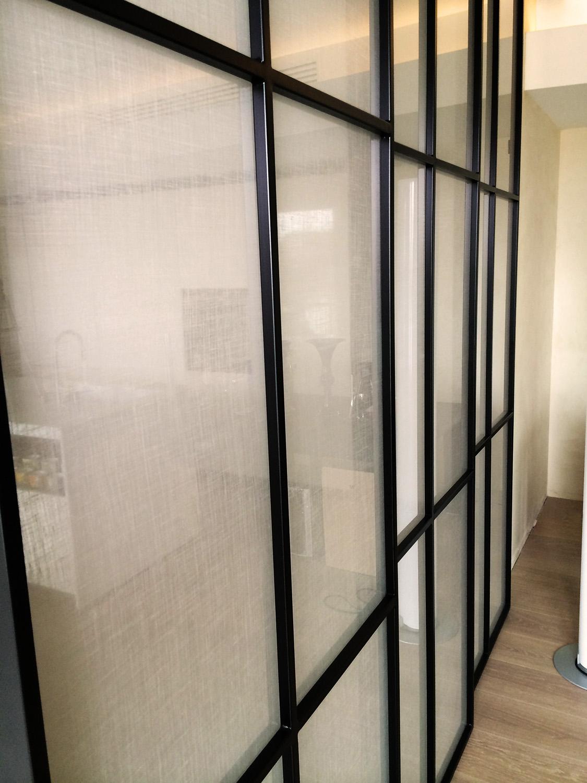dettaglio vetrata scorrevole arch. manuel assennato