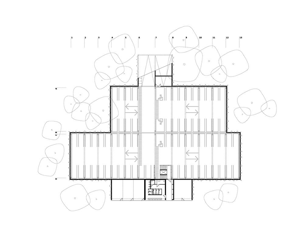 car park lower floor plan }