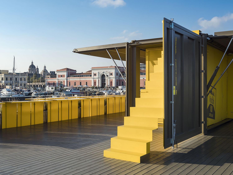 vista lato minore - container aperto Ph. Alfio Garozzo