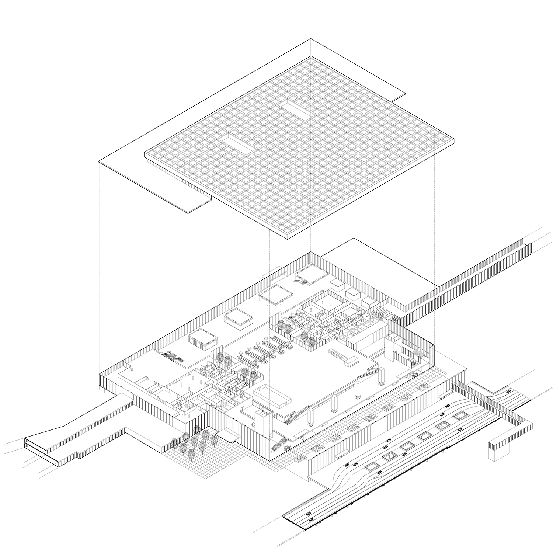 Building axonometric KAAN Architecten}